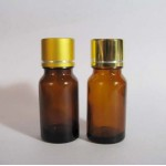 10ml/0.33oz  Amber Glass Bottle With Aluminum Screw Cap