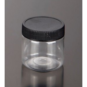 Plastic Jar With Black Lid 100ml