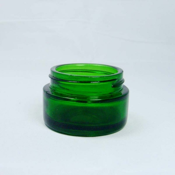 20g Green Glass Jar For Cream Packing