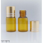 2ml Amber Bottle With Gold Cap and Orifice Reducer