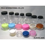 Plastic jars for cream
