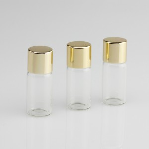 Clear Glass Vial With Metallic Cap