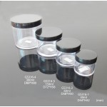 Clear Plastic Jar With Black Dome Cap