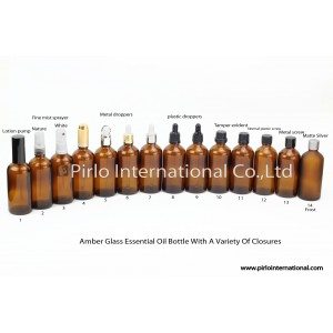 Glass Essential Oil Bottles With A Variety Of Closures