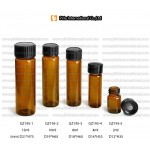 Amber glass medical vial